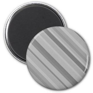 Grey diagonal stripes magnet