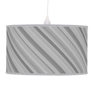 Grey diagonal stripes pendant lamp