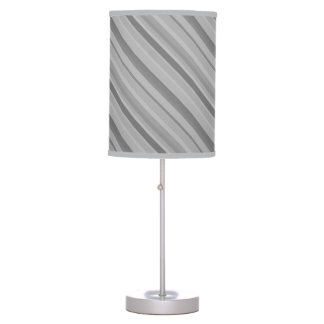 Grey diagonal stripes table lamp