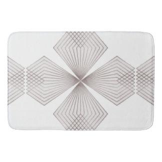 Grey Diamond Flower Bathmat