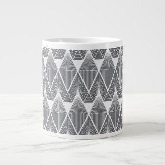 Grey diamonds large coffee mug