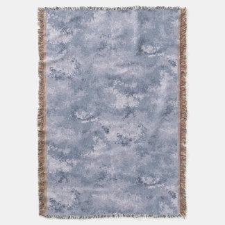 Grey Digi Camo Throw Blanket