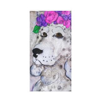 Grey Dog Canvas Print