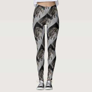 Grey dog leggings