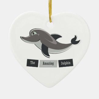 Grey Dolphin Christmas Ornament