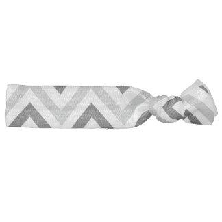 Grey Double Chevron Hair Tie