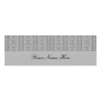 Grey Elegant Pattern Mini Business Card