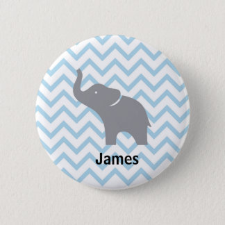 Grey Elephant Button