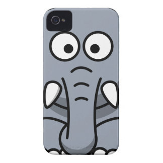 Grey Elephant Cartoon Case-Mate iPhone 4 Cases