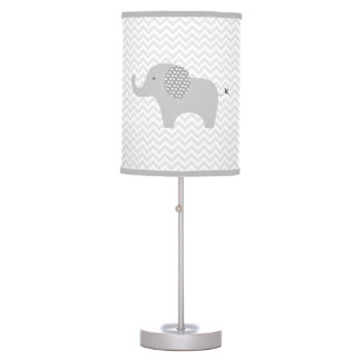 Grey Elephant Chevron Nursery Lamp