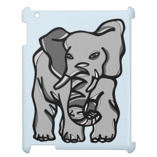 """Grey Elephant"" iPad Case"