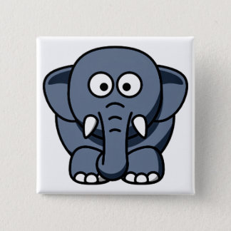 GREY ELEPHANT SQAURE BUTTON