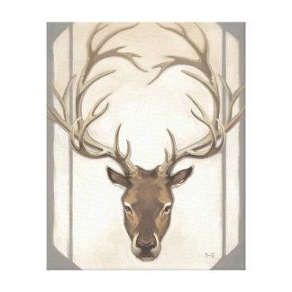 Grey Elk Canvas Print