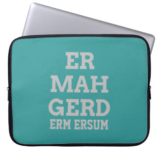 Grey Ermahgerd Laptop Sleeve