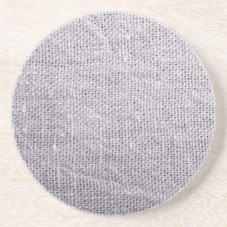 Grey fabric background burlap coaster