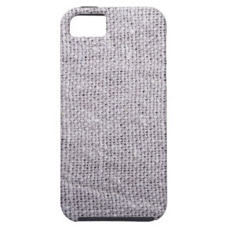 Grey fabric background burlap iPhone 5 case
