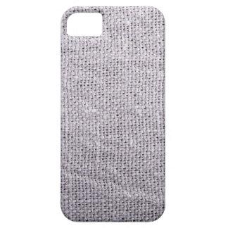 Grey fabric background burlap iPhone 5 cases