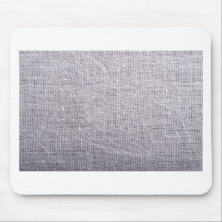 Grey fabric background burlap mouse pad