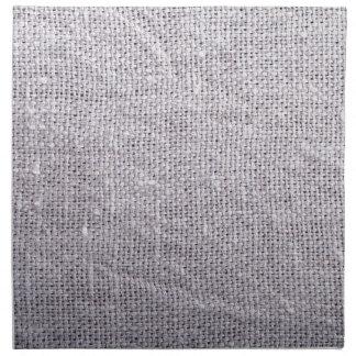 Grey fabric background burlap napkin