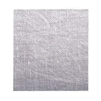 Grey fabric background burlap notepad