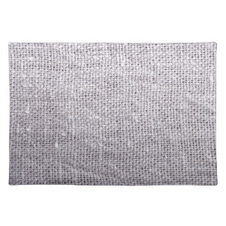Grey fabric background burlap placemat