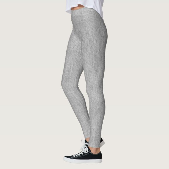 Grey Faux Textured Fabric Look Grey Leggings