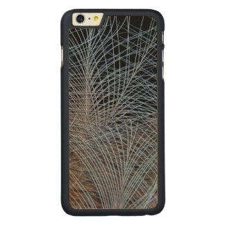 Grey Feather Abstract Carved Maple iPhone 6 Plus Case