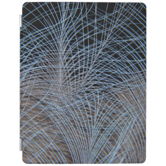 Grey Feather Abstract iPad Cover