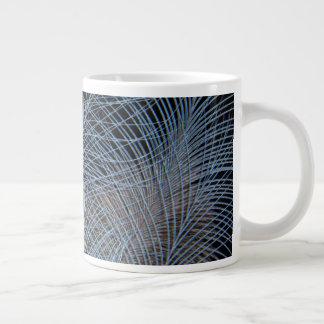 Grey Feather Abstract Large Coffee Mug
