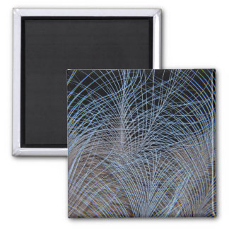 Grey Feather Abstract Magnet