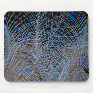Grey Feather Abstract Mouse Pad