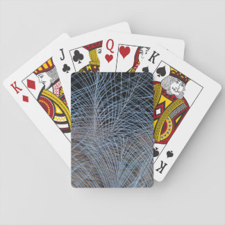 Grey Feather Abstract Playing Cards