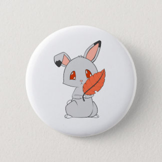 Grey Fire Bunny 2 Inch Round Button