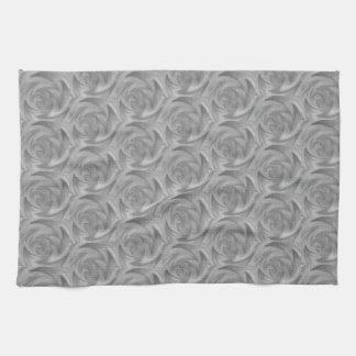 grey fire tea towel