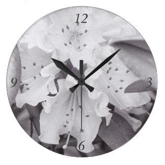 Grey Floral Circle Clock