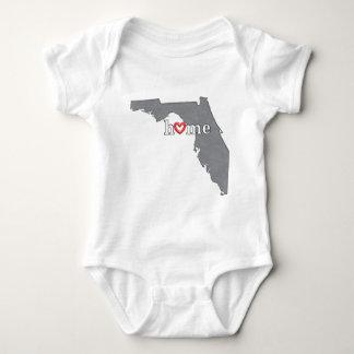 Grey FLORIDA Home & Open Heart Baby Bodysuit