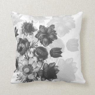 Grey Flower Bouquet Custom Pillows