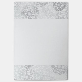 Grey Flower Burst Design Post-it Notes