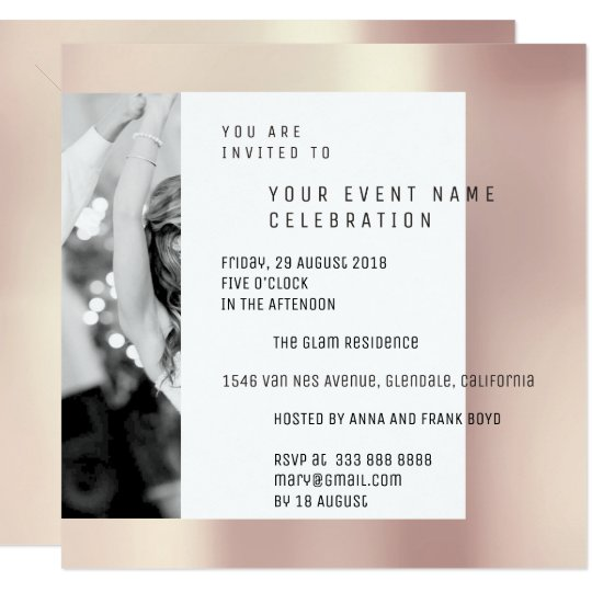 Grey Foto Pearly Geometry Pink Rose Metallic VIP Card
