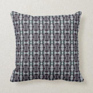 Grey Fractal Pattern Throw Pillow