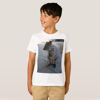 Grey Furry Australian Quokka, T-Shirt