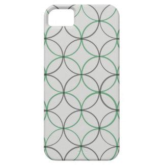 Grey geometric double ring sleek iPhone 5 case