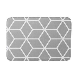 Grey Geometric Pattern Bath Mat