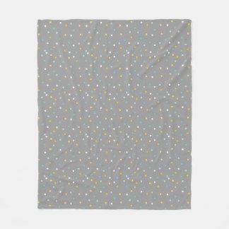 Grey geometric pattern Fleece blanket