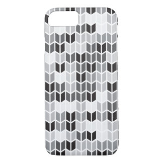 Grey Geometric Pattern iPhone 7 Case