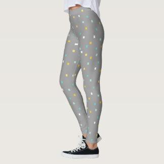 Grey geometric pattern Legging