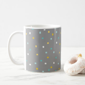 Grey geometric pattern Mug