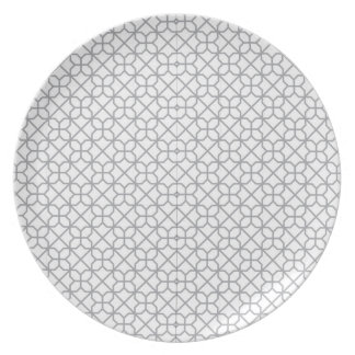 Grey geometry plate