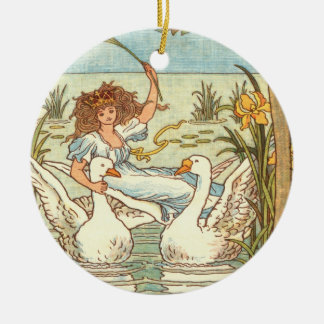 """Grey Goose and Gander"" Ceramic Ornament"