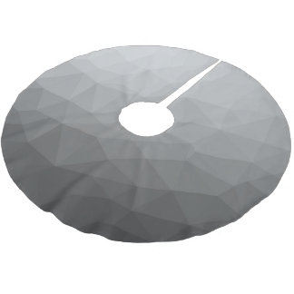 Grey Gradient Geometric Mesh Brushed Polyester Tree Skirt